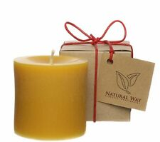100% Pure Beeswax Pillar Candle 3x3''
