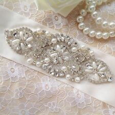 Lady Wedding Dresses Rhinestone Applique Trimming,Beaded Rhinestone Applique