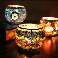 Mosaic Glass Candle Holder Romantic Candlestick Home Party Decor Lover's Gift