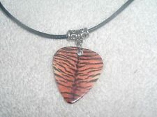 Tiger Cat Animal Print Guitar Pick Necklace OR Belly Ring Jewelry Your Choice