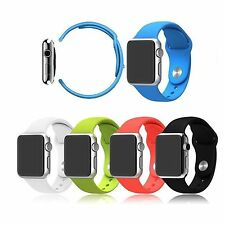 42mm Replacement Silicone Wrist Bracelet Sport Band Strap for Apple Watch iWatch