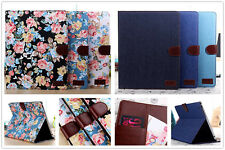 Elegant Vintage Cloth Leather Magnet Stand Case Cover Pouch For iPad Galaxy Tab