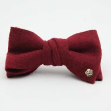 Woolen Fabric Bow Fall Winter French Hair Barrette Clip