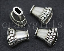 6/20/100pcs Tibetan Silver Beautiful Cylindrical Jewelry Charm Spacer Beads 16mm