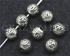 Lot 15/60/300pcs Tibetan Silver Beautiful spherosome Charms Spacer Beads DIY 6mm