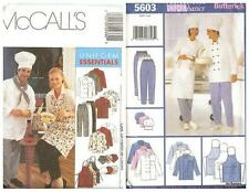 OOP Chef Uniform Jacket Pants Apron Hat Sewing Pattern Unisex Men Misses UPICK