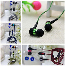3.5mm In-Ear Braided Earbud Earphone Headset Headphone For iPhone Samsung LG HTC
