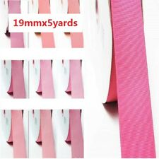 """by 5 Yards Grosgrain Ribbon 3/4"""" /19mm. for Wedding alL Pink s to Choose"""