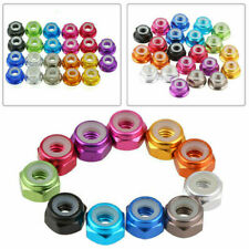 M2 M3 M4 M5 Aluminum Nylon Lock Nut X 10 Black Blue Red Gold Pink Purple Green