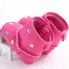Newborn Baby Girls Shoes Baby Boots Crib Shoes Tolddler Heart Boots 0-18 Months
