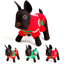 Christmas Dog Sweater Stripes Clothes Puppy Dog Cat Sweater Red Blue Warm Cloth