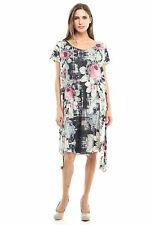 Jubilee Couture Womens Plus Size Flower Print Dress Made in USA 1XL 2XL 3XL