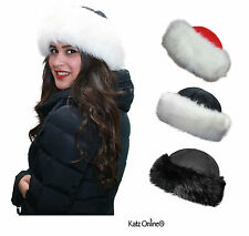 New High Quality Russian Cossack Style Faux Fur Ushanka Ladies Warm Winter Hat