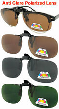 POLARIZED FLIP UP CLIP ON SUNGLASSES 100% UV 400 PROTECTION DRIVING MEN WOMEN