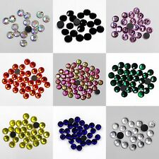 1440p Round Crystal Glass DMC Hotfix Rhinestones Flatback Iron on Strass 32color