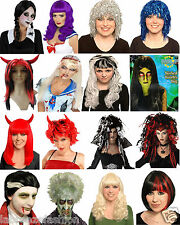 Halloween Ladies Women's Witch Vampire Devil Gothic Angel Fancy Dress Wig