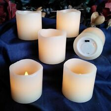 White Set of 6 LED Votive Candles Flameless Fake Unscented Battery Powered