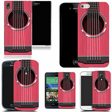 gel rubber case cover for  Mobile phones - pink guitar strings silicone