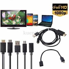New MHL Micro USB to HDMI 1080P Media HD TV HDTV Cord Lead Cable adapter Charger