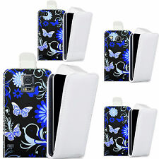 pu leather  case cover for majority Mobile phones - blue swoosh butterfly flip