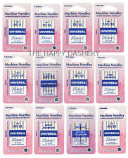 HEMLINE KLASSE UNIVERSAL Sewing Machine Needles Size Medium Fine Heavy Assorted