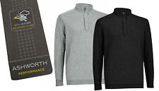 Ashworth Pima Cotton Lined 1/4 Zip Sweater - MEDIUM & XL ONLY - RRP£59.99