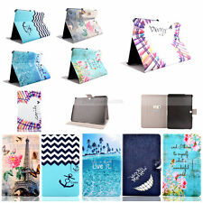 Paited Wallet Leather Flip Case Cover For Samsung Galaxy Tab S/S2 3 4 A E Tablet