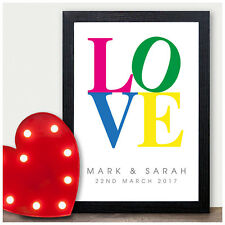 VALENTINES DAY Gift Personalised Engagement Anniversary Gift Couples Present