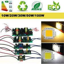 Constant Current 10W 20W 30W 50W 100W LED Power Driver High Power LED Chip Lamp