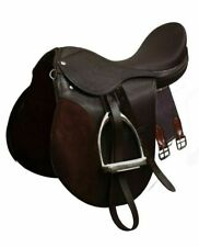 All-Purpose ENGLISH Saddle, Leathers, Girth & Stainless Steel Irons STARTER SET