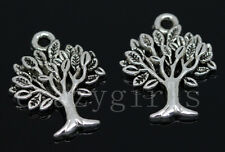 15/60/300pcs Tibetan Silver Green tree Jewelry Craft Charms Pendant DIY 22x17mm