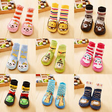 Kids Cartoon Toddler Baby Anti-slip Sock Shoes Boots Slipper Socks 0-24 Months