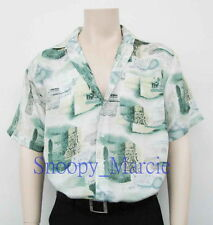 New Mens Top Quality Printed Short Sleeve Silk Shirts Gifts S-M-L-XL-XXL AU0511