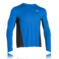 Under Armour Mens Blue Charged Wool Long Sleeve Crew Neck Running Sports Top