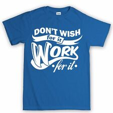 Work For It Fitness Training Workout Gym Running Body Building New T shirt Tee