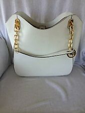 NEW-MICHAEL KORS LARGE LILLY OPTIC WHITE LEATHER TOTE SHOULDER,HAND BAG PURSE