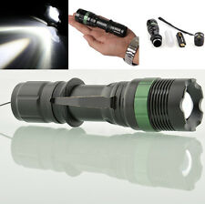 CREE XM-L Q5/T6 LED Torch Zoom Zoomable Flashlight Light Focus Camping