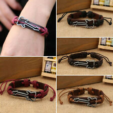 Mens Womens Wrap Handmade Leather Guitar Bracelet Braided Rope Fashion Jewelry