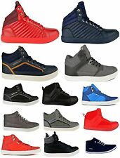 Twisted Faith Mens New Casual Lace Up Hi High Tops Trainers Pumps Sneakers Boots