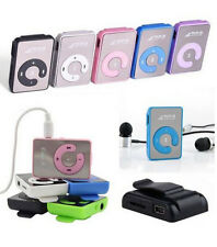 Fit 8GB SD/TF Card Portable Mini Mirror Clip Mp3 Music Player USB Digital
