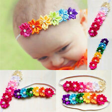 New Baby Girls Infant Toddler Colorful Headband Flower Pearl Headwear Hair Band