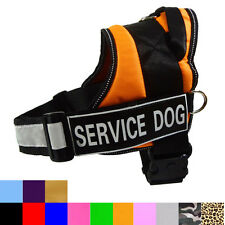Service Dog Vest Nylon Therapy Harness With Removable Reflective Velcro Patches