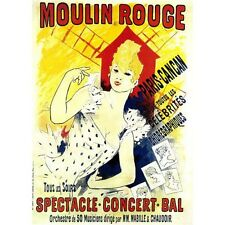 French Advertising Art Moulin Rouge Paris France Vintage Poster Reproduction