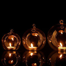 Clear Hanging Glass Candle Holder Fancy Votive Candlestick Wedding Party Decor