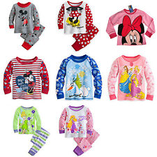 Mickey Minnie Olaf Princess Winter Clothes Kids Set Girls Clothing Shirt & Pant