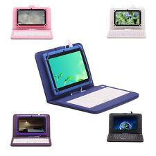 "iRULU 7"" Screen Google Android 16GB Dual Cam Quad Core Tablet PC W/Keyboard"