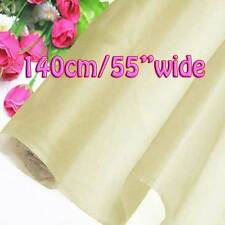 Ivory Sample/Half/Yard Pure Silk Organza Bridal Dress Fabric 140cm W