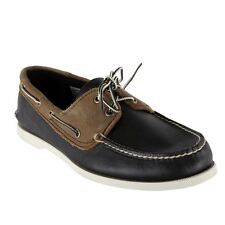 Timberland Boat Shoes Men Earthkeepers Brig 2 Eye Boat Black Brown Leather 6663R