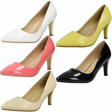 "Ladies Anne Michelle 3"" Heeled Patent Shoes"