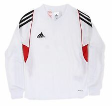 Adidas Youth Climacool Soccer Team 14 Jersey L/S White Shirts Junior GYM D87378